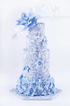 EDITOR'S CHOICE (04/14/2015) A delicate lace cake by Victoria Mkhitaryan Cakes&Desserts View details here: http://cakesdecor.com/cakes/191973-a-delicate-lace-cake