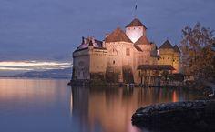 Chateau di Chillon, on the shore of Lake Geneva