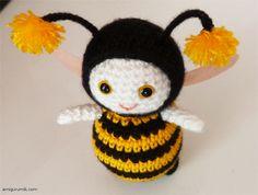 Пчелка Вязание Крючком Пчела, Вязаные Головные Уборы, Шапочка, Игрушки, Ремесла, Вязание, Пчелы, Амигуруми