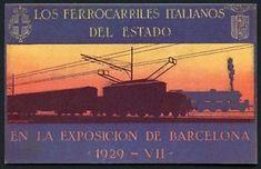 a tarjeta los ferrocarriles italianos del estado postcard 1929