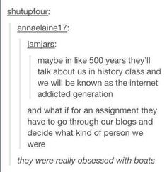 Only reblogging for the last comment ...boats... #OTP #IShipIt I love all my ships...