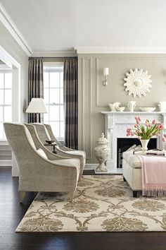 #Mydreamroom.  Beige and pink living room.  Nice soft accent color. http://www.bhg.com/bhg/files/marketing/pinandwin/americanfamily/dreamroommakeover.html