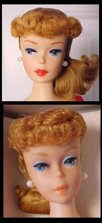 #6&7 Number Six and Seven Ponytail Vintage Barbie Doll - different eye shadows, earrings, and different shade of blonde
