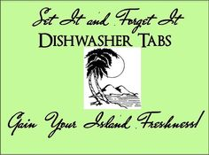 Set It & Forget It GAIN your ISLAND FRESHNESS! Dishwasher Tabs on Etsy, $5.50