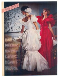 August/September Brides 1985 I didn't love all the 80's wedding gowns of course...