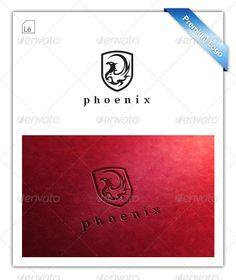 Phoenix Heraldic Shield Logo