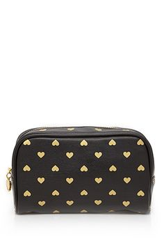 Heart Print Beauty Bag | FOREVER21 - 1000118327