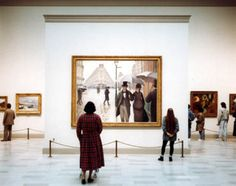 Art Institute of Chicago II, Chicago, Thomas Struth (b. Chromogenic print, 184 x 219 cm. The Art Institute of Chicago, restricted gift of Lewis Manilow. Chicago Ii, Chicago Museums, Muse Kunst, Renoir, Muse Art, My Kind Of Town, Art Institute Of Chicago, Illustrations, Art Museum