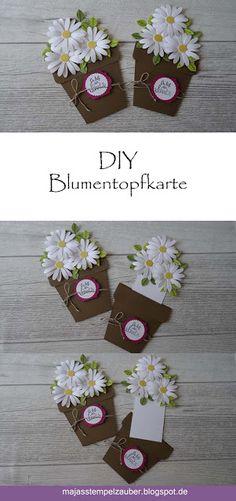 Einfache Anleitung für eine Blumentopfkarte, ideal zum Muttertag. Gebastelt mit den tollen Produkten von Stampin´Up!