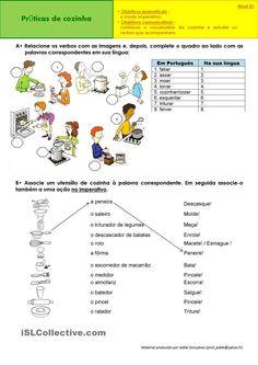 Imperativo - Práticas de cozinha apostilas - Apostilas de português gratuitas