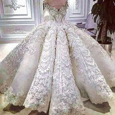 Image result for wedding gowns+long trains