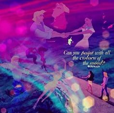 Disney challenge day 4: favorite song: colors of the wind