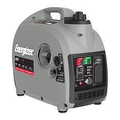 Energizer eZV2000P 2000W Gas Powered Portable Inverter Generator with Parallel Capability, Grey Black. For product info go to:  https://www.caraccessoriesonlinemarket.com/energizer-ezv2000p-2000w-gas-powered-portable-inverter-generator-with-parallel-capability-grey-black/