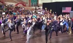 Morehouse College Students Perform Electrifying Step Routine At Bernie Sanders Rally