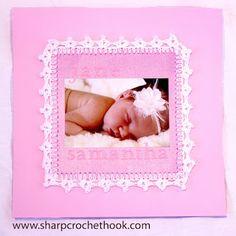 Sharp Crochet Hook: Easy Crochet Edgings- scrapbook page