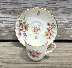 Vintage Demitasse Cup and Saucer Set Mintons by SallysBackyardHome