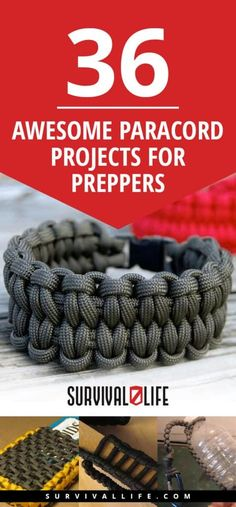 Paracord survival bracelets are great for any prepper – plus it has a ton of uses. Check out 17 ways how to make different paracord bracelet patterns. Paracord Belt, Paracord Braids, Paracord Keychain, Paracord Bracelets, Survival Bracelets, Hemp Bracelets, Paracord Weaves, Survival Project, Survival Life