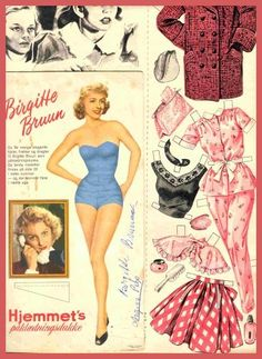 Brigette Bruun Danish actress of the and Paper Doll Costume, Paper Doll Craft, Paper Toys, Paper Crafts, Paper Clothes, Clothes Crafts, Zen, Beautiful Costumes, How To Make Clothes
