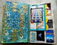 A few pages from my art journal from this month…
