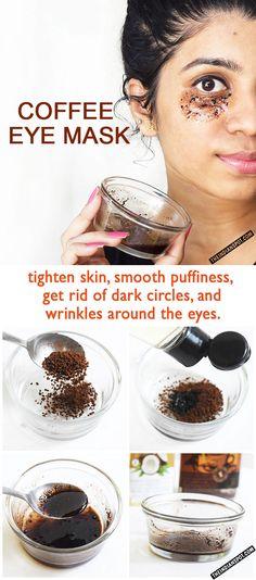COFFEE EYE MASK TO GET RID OF DARK CIRCLES | THEINDIANSPOT.COM