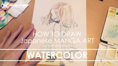 Watercolor painting - Drawing Manga Art 2017.08.09