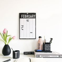 🔸Scandinavian design stuff 🔹 #LIHI_FOUND 🔸 ⠀ ✔️ Design Letters - Monthly Planner | @designletters ⚪ The Monthly Planner by Design Letters brings order to the everyday chaos of a family and provides clarity in the office. At the same time the calendar is a discreet wall decoration with the popular Arne Jacobsen typography. ⚫ With the help of a nail and the band, the perpetual monthly planner is hung on the wall. ⚪ Important events like birthdays, meetings, seminars or the summer holiday…