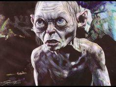 The Hobbit - Gollum Ballpoint Pen Drawing