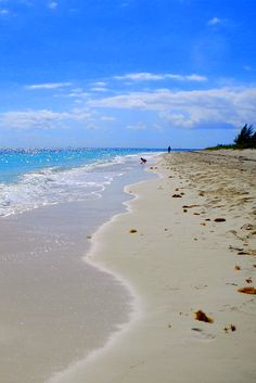 Walking along the beach in Freeport, Bahamas