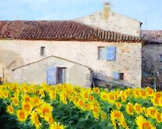 Sunflowers In Provence by Anne-Marie on Etsy