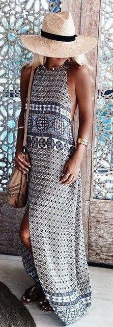 #gypsylovinlight #coachella #hippie #style #spring #summer #inspiration | Amazing print maxi dress
