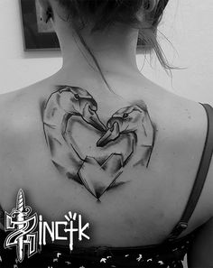 Martin Tattooer Zincik - Swan tattoo geometric design , Tetování Chrudim / Praha