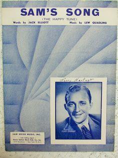 Vintage Bing Crosby Sheet Music 1950 Sam's by DaysofYoreTreasures Old Sheet Music, Song Sheet, Vintage Sheet Music, Jack Elliott, Tune Music, Bing Crosby, Lyrics, Songs, Happy