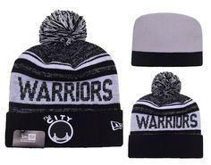 Golden State Warriors New Era NBA Team Monochrome Knit Beanie Grey