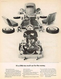 Publicidad por DDB (Doyle-Dane-Bernbach) USA. Década de 1960