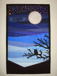 """Lia*s Handmades: """"Beneath a Silver Light"""" - Project Quilting. Challenge 5. I love the colours and shadow in this one!"""