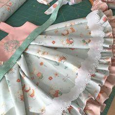 Kinder  Kouture Easter dress in progress