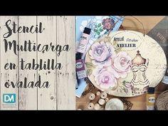 STENCIL 3D EN TABLILLA OVALADA - YouTube