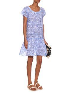 Paola porcelain-print tiered dress | Thierry Colson | MATCHESFASHION.COM UK