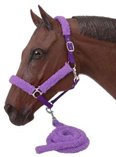 Saddles Tack Horse Supplies - ChickSaddlery.com Tough-1 Fuzzy Nylon Halter & Lead Set #winyourwishlist