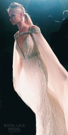 Berta Bridal Wedding Dresses Fall 2016 Runway Collection real bride, wedding inspiration, wedding ideas, cape veil, tulle, crown