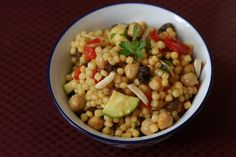 The Ordinary Vegetarian: Moroccan Couscous Salad with Saffron and Cinnamon