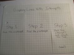 Graphing Lines with Intercepts Foldable (outside) for the Algebra Interactive Math Notebook