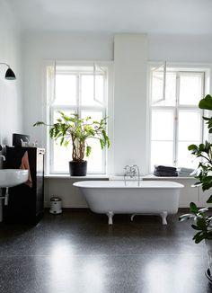 Familien Herlev Jørgensen har innredet en herskapelig leilighet med gymsal og et tre meter høyt tre i stuen. For har man lyst, ja, så har man lov.