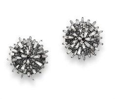 A pair of Art Deco diamond emerald paste ear clips by JAR. So dreamy!
