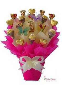 Tickled Pink Chocolate Bouquet | Florist Sydney Melbourne Brisbane Canberra Adelaide Perth Darwin Hobart Australia