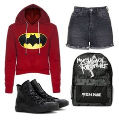 """""""school day 2"""" by phoebe-zeng on Polyvore featuring Topshop and Converse"""