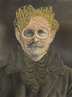 Embroidery on an antique photo by Stacy Page- Leonard
