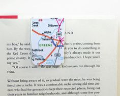 Laminated Magnetic Bookmark Street Map Atlas Ready to Ship