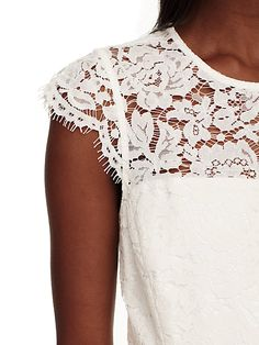 true romance: constructed from a pretty floral lace with just a hint of stretch, this open-backed, fit-and-flare mini-dress is simultaneously sweet, chic and a little bit sexy. Rose Lace, Floral Lace, Size 00, Fit And Flare, Fashion Dresses, Flare Dress, Clothes For Women, Chic, Kate Spade