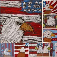 eagle, Why America is Free, oil pastels, Art Education, Art Education Blog, 4th Grade, The Westfield School, Karen Ray, Kim and Karen 2 Soul Sisters Art Education Blog